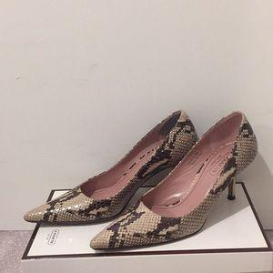 EUC coach python snake heels, sz 6.5